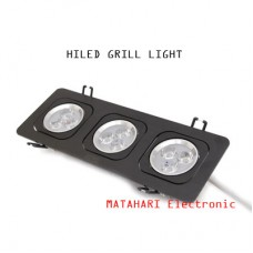 Grill Light HiLed 3 x 3Watt